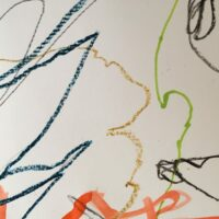 showing differences in colour and tone with mark making