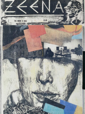Portrait and Collage Sketchbook Page by Stephanie Cubbin
