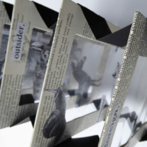 Book & paper installations using non-traditional surfaces