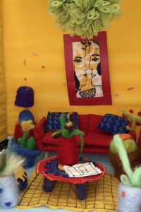 Felted and Embroidered Yellow Living Room by Gabby Dickson