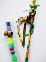 Shaker sticks made from bells and sticks