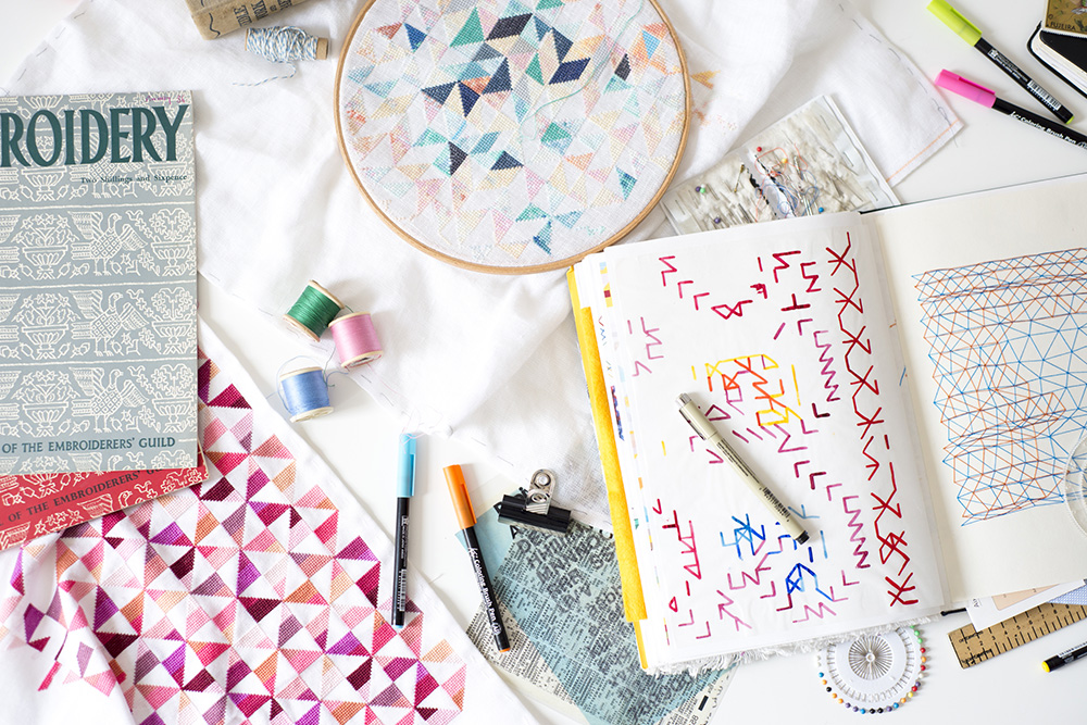 Embroidery Sketchbook and Samples by Rachel Parker