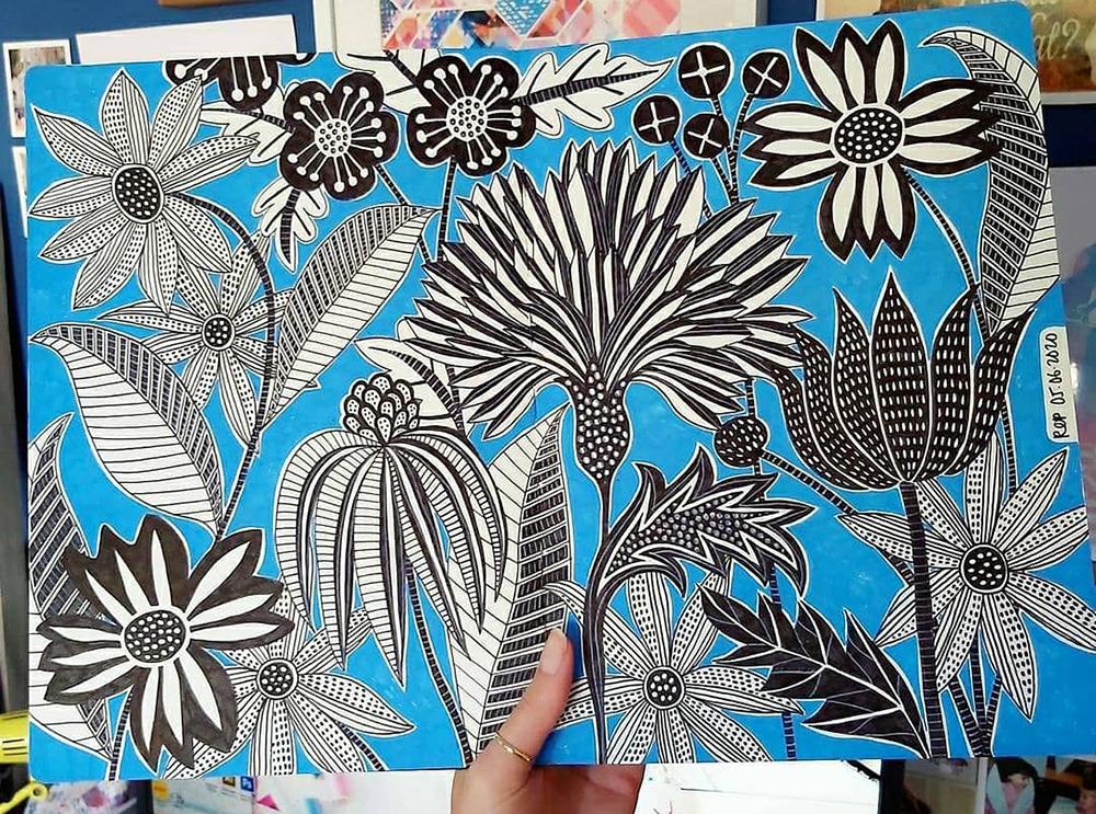 Paradaisu sketchbook drawings by Rachel Parker