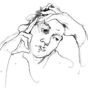 Inspiring portrait drawing in practice