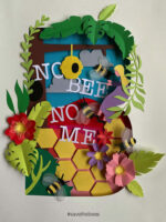 No Bee No Mee Papercut Poster by Abigail Winter