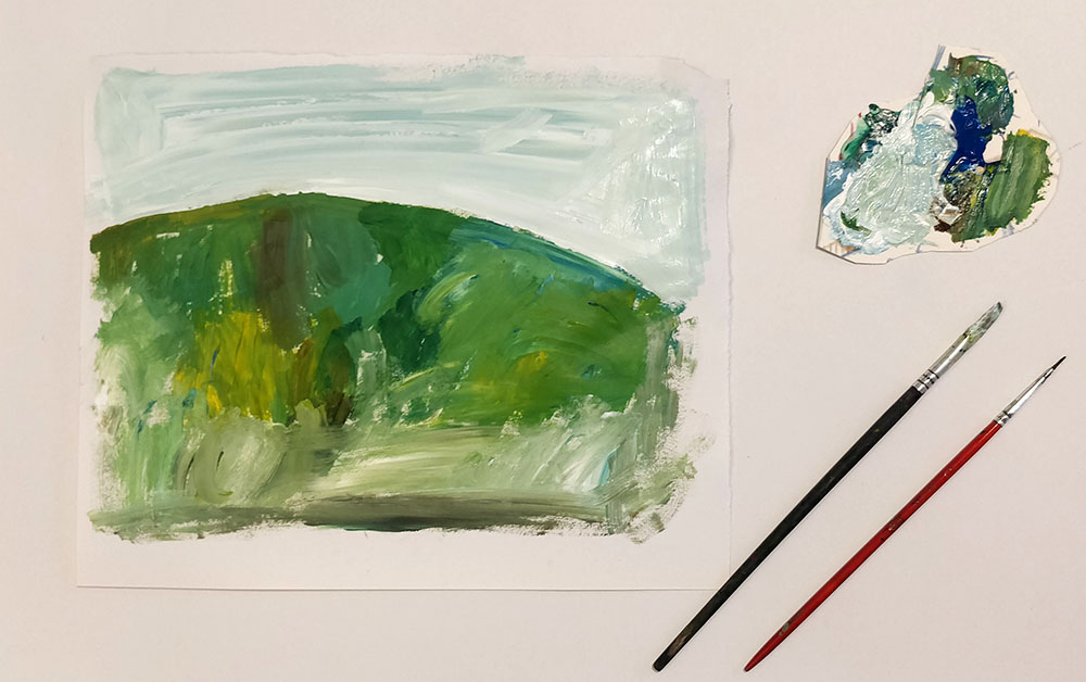 Painted Landscape Background by Inbal Leitner