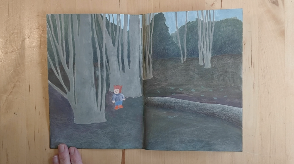 Little Boy in a Forest by Inbal Leitner