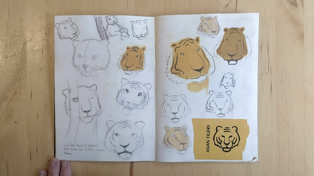 Tigers Faces by Inbal Leitner