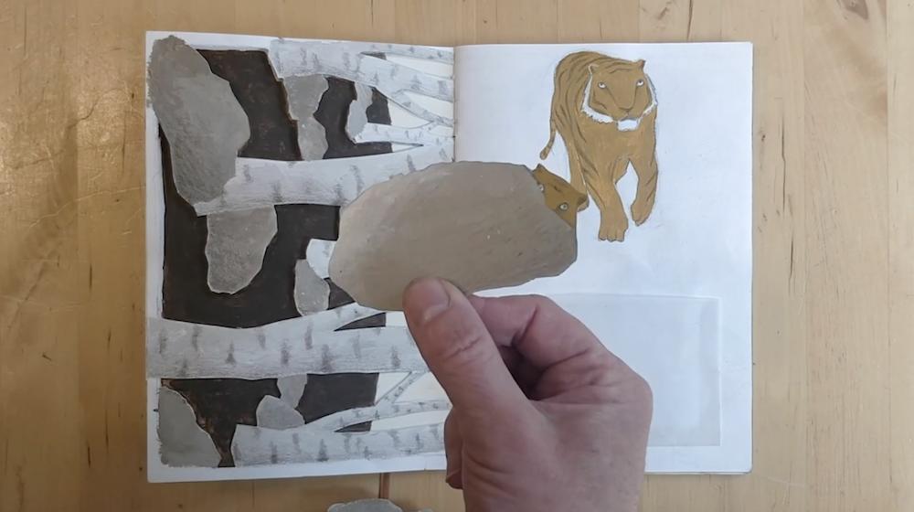 Tigers Hiding Behind Rocks By Inbal Leitner