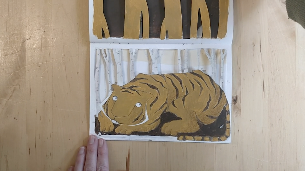 Painted Tiger by Inbal Leitner