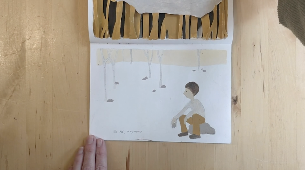 Grown Boy in The Forest by Inbal Leitner