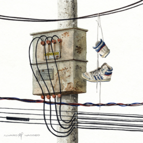 Imagined sculptures of waste/consumer goods