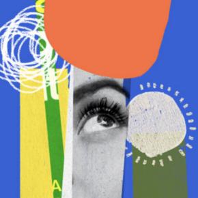 Designer And Illustrator Using Collage