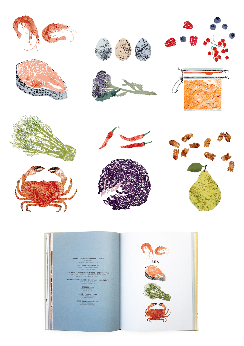 The Bountiful Kitchen Illustrations by Claire Harrup