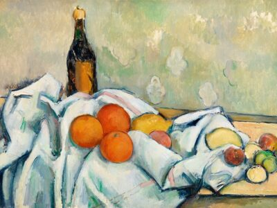 """""""Bottle and Fruits by Paul Cézanne"""" by Barnes Foundation is marked with CC0 1.0"""