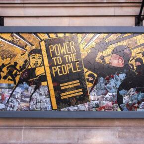 Protest Artist Producing Large Scale Public Murals in Ceramic