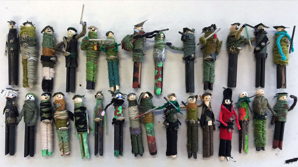 Individual Peg Soldiers By Mandy Barrett