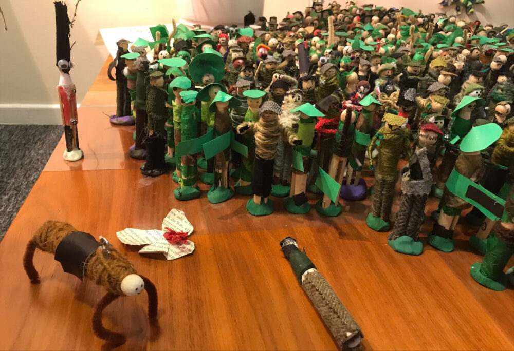 Peg Soldiers And A Peg Horse By Mandy Barrett