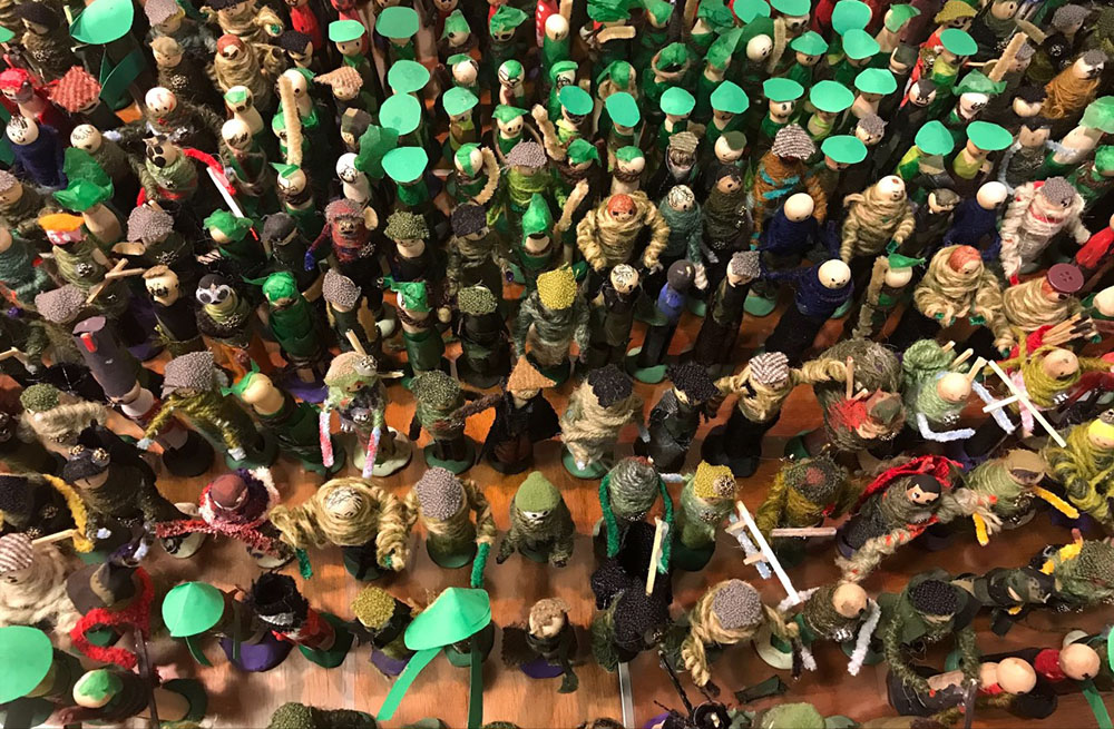 Peg Soldiers In Rows By Mandy Barrett